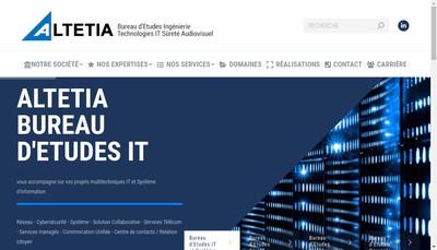 Site internet de Altetia