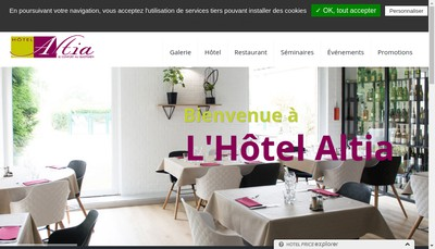 Site internet de Altia Hotel