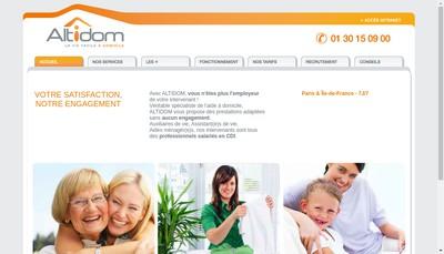 Site internet de Altidom Alp