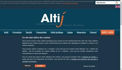 Site internet de SELARL Altij