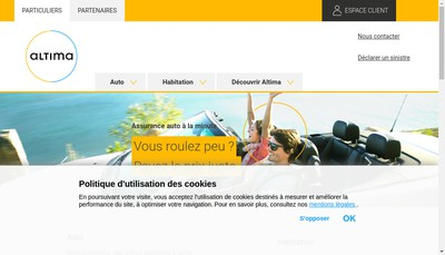 Site internet de Altima Assurances