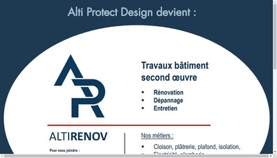 Site internet de Alti Protect Design
