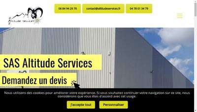 Site internet de Altitude Service SAS
