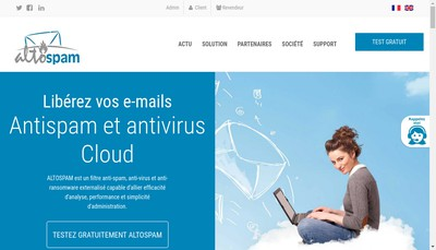 Site internet de Altospam