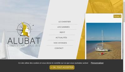 Site internet de Alubat Chantier Naval