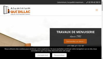 Site internet de Aluminium Quedillac