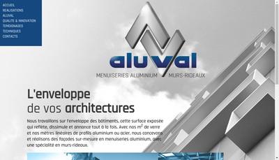 Site internet de Aluval