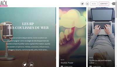 Site internet de Al'X Communication