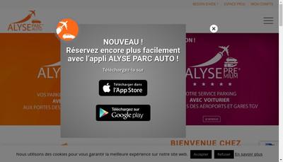 Site internet de Alyse Parc Auto