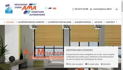 Site internet de Albi Menuiseries Aluminium