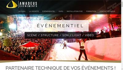Site internet de Amadeus Evenements