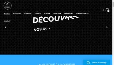 Site internet de Amadeus Pianos