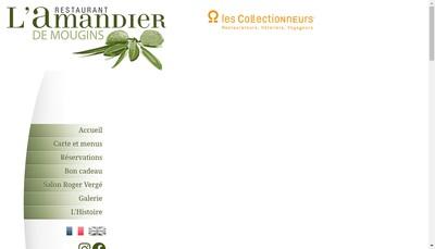 Site internet de L'Amandier