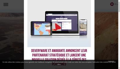 Site internet de Amarante International