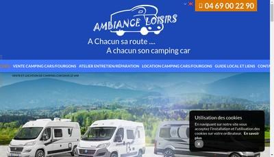 Site internet de Ambiance Loisirs