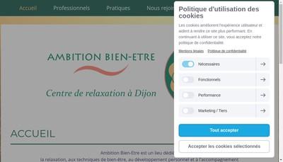 Site internet de Ambition Bien Etre