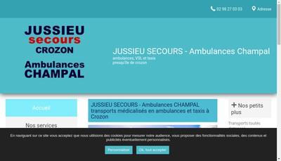Site internet de Jussieu Secours Sante Service Crozon Telgruc