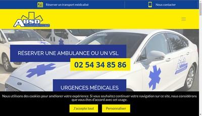 Site internet de Ambulances Absd Allaince Ambulances