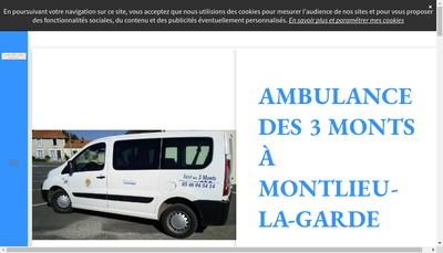 Site internet de Ambulances des 3 Monts SARL