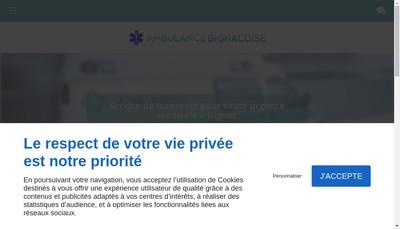 Site internet de Ambulance Gignacoise