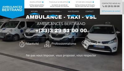 Site internet de Ambulances Bertrand