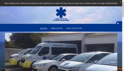 Site internet de Ambulance Oleronnaise