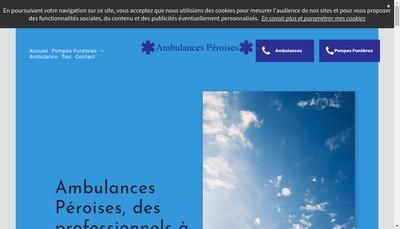 Site internet de Ambulances Peroises