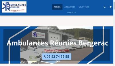 Site internet de Ambulances Reunies Societe Foy la Grande