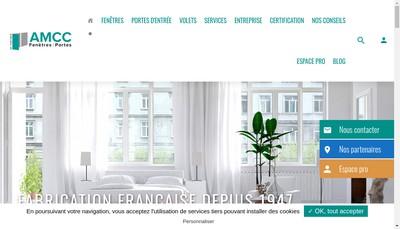 Site internet de Amcc Fenetres et Portes