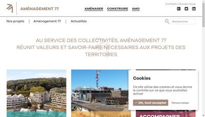 Site internet de Amenagement 77