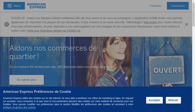 Site internet de American Express Carte France