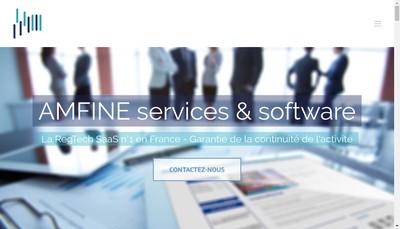 Site internet de Amfine Services And Software