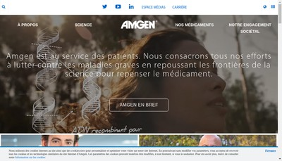 Site internet de Amgen SAS