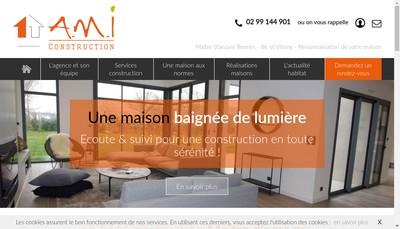 Site internet de AMI Construction
