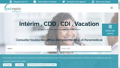 Site internet de Ami Medical Interim