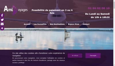 Site internet de Ami Voyages International