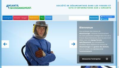 Site internet de Amiante Environnement