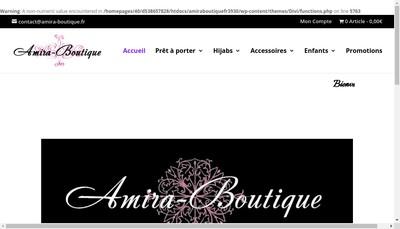 Site internet de Amira Boutique