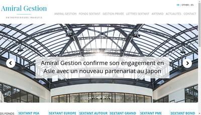 Site internet de Amiral Gestion