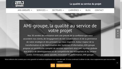 Site internet de Amj Groupe