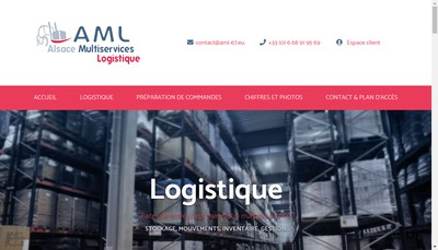 Site internet de Alsace Multiservices Logistique