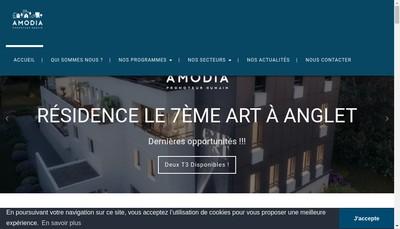 Site internet de Amodia Immobilier