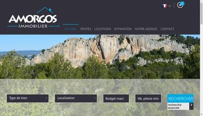 Site internet de Amorgos Immobilier