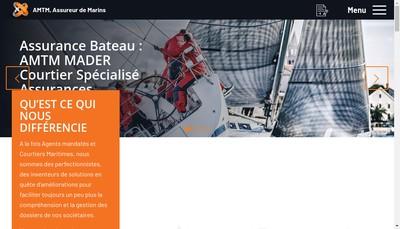 Site internet de Assurances Maritimes et Transports Mader