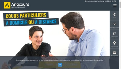 Site internet de Anacours