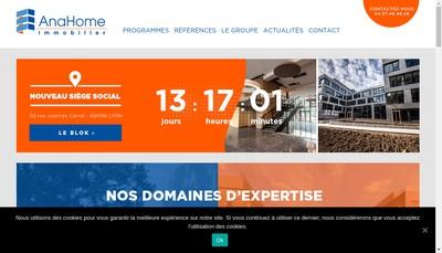 Site internet de Anahome Developpement