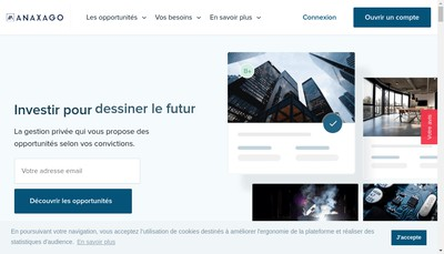 Site internet de Objectif Anaxago