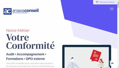 Site internet de Anaxia Conseil