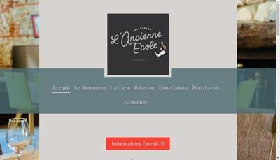 Site internet de L'Ancienne Ecole