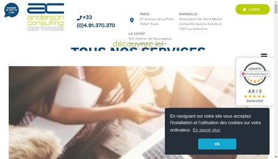Site internet de Anderson Consulting